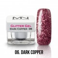 MN Glitter gel - 06 Dark Copper 4g