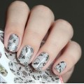 Nalepka Simply Decals N333 - Black Lace w/small flowers